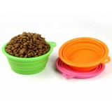 Складная силиконовая миска для собак и кошек 320 мл