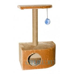 Домик для кошки с игрушкой и площадкой